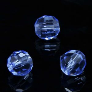 Beads, Selenial Crystal, Crystal, Blue , Faceted Rounds, Diameter 8mm, 10 Beads, [ZZC116]